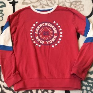 Abercrombie red white & Blue sweatshirt
